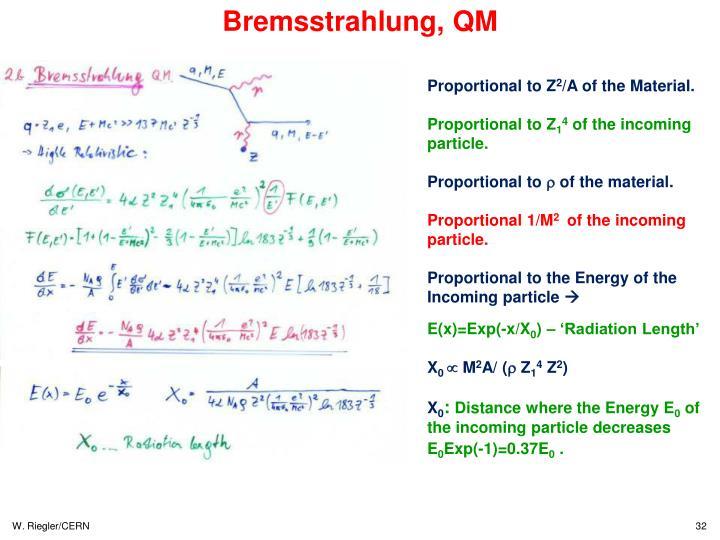 Bremsstrahlung, QM