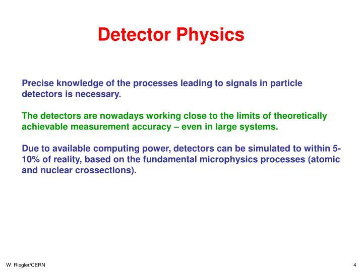 Detector Physics