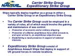 carrier strike group expeditionary strike group