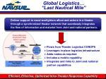 global logistics last nautical mile