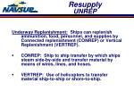 resupply unrep
