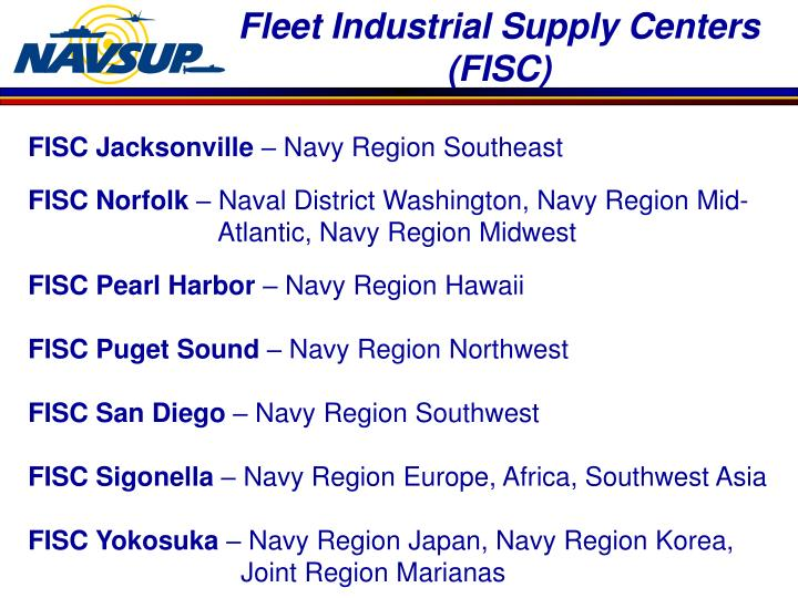 Fleet Industrial Supply Centers (FISC)