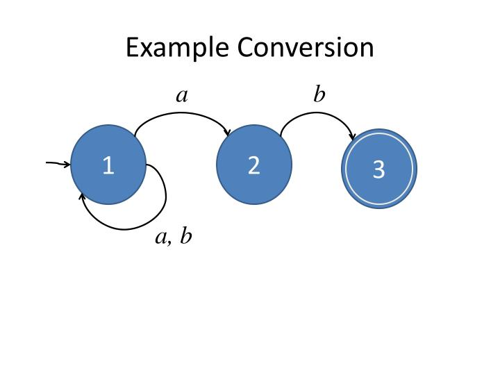 Example Conversion