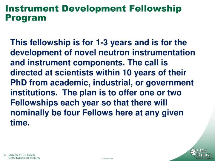Instrument Development Fellowship Program