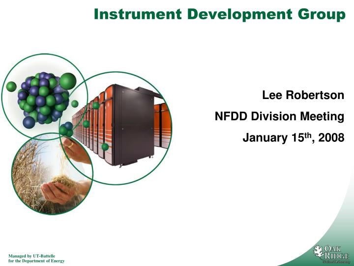 Instrument development group