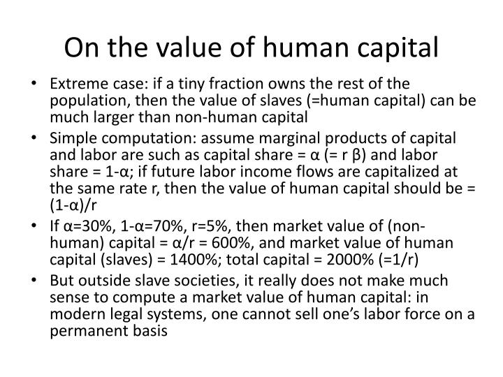 On the value of