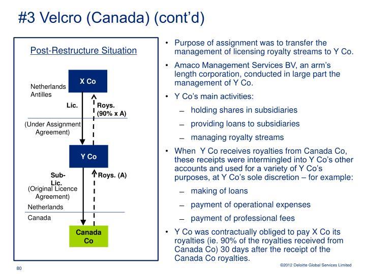 #3 Velcro (Canada) (cont'd)