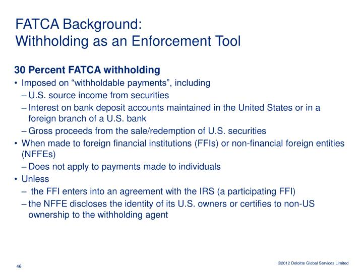 FATCA Background:
