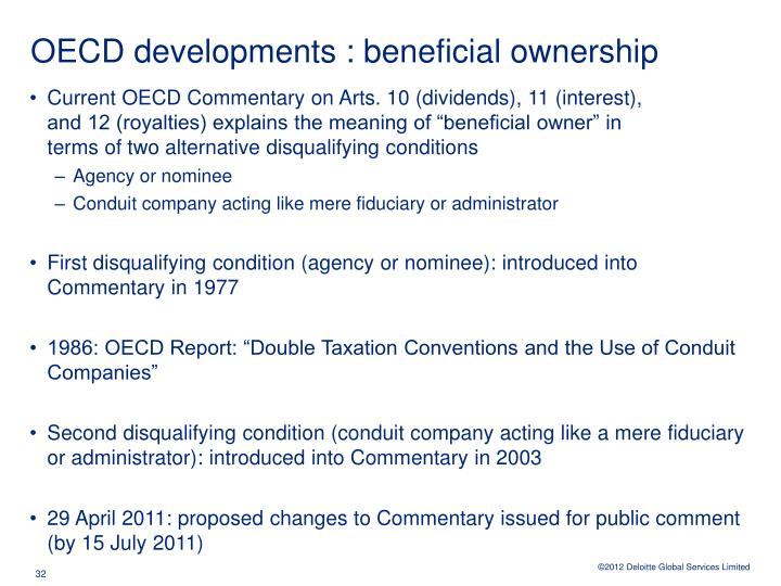OECD developments : beneficial ownership