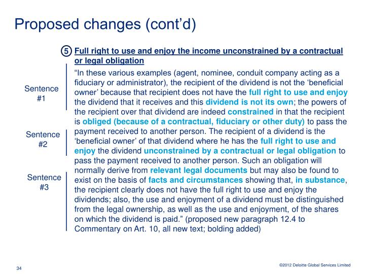 Proposed changes (cont'd)
