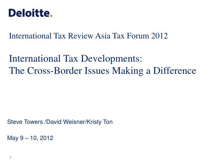 International Tax Review Asia Tax Forum 2012