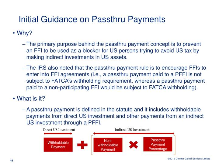 Initial Guidance on Passthru Payments