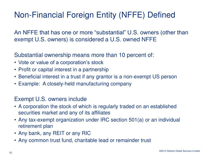 Non-Financial Foreign Entity (NFFE) Defined