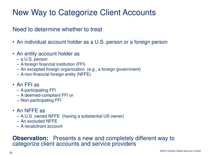 New Way to Categorize Client Accounts