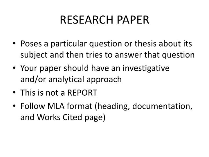 powerpoints on research papers Prepare your slides as a powerpoint file or a pdf and bring them with you to the   title and what the paper is about one slide with the research question and.