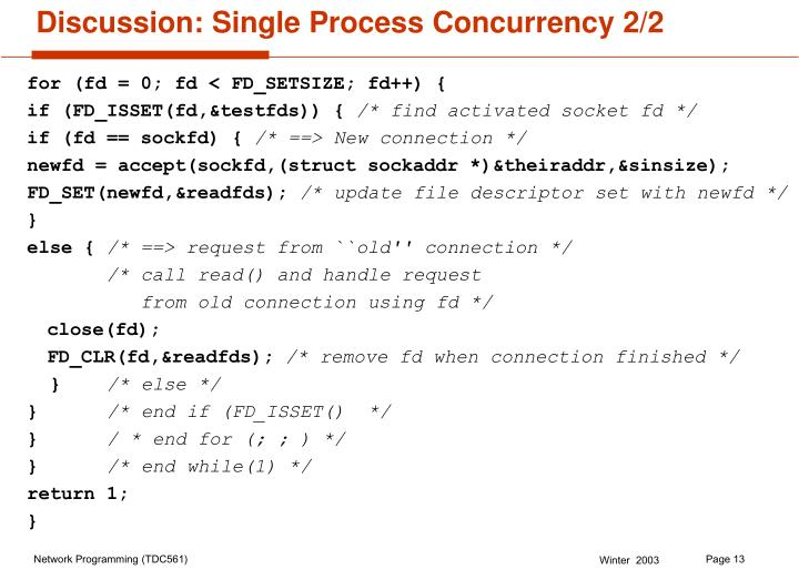 Discussion: Single Process Concurrency 2/2