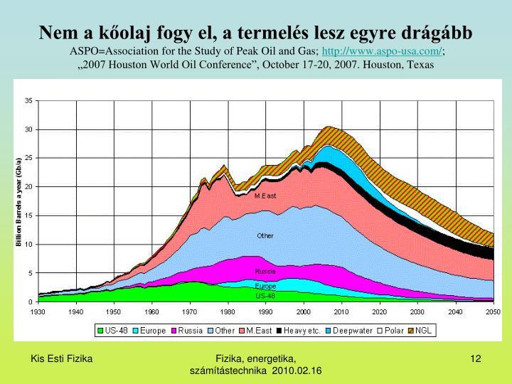 Nem a kőolaj fogy el, a termelés lesz egyre drágább