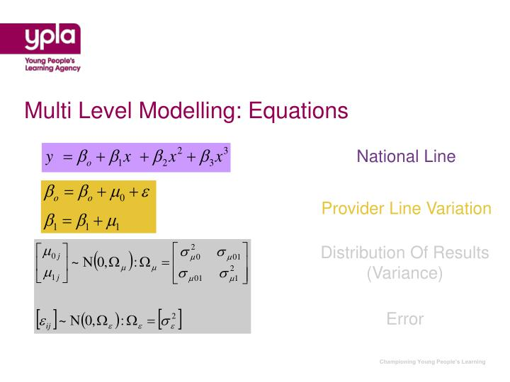 Multi Level Modelling: Equations