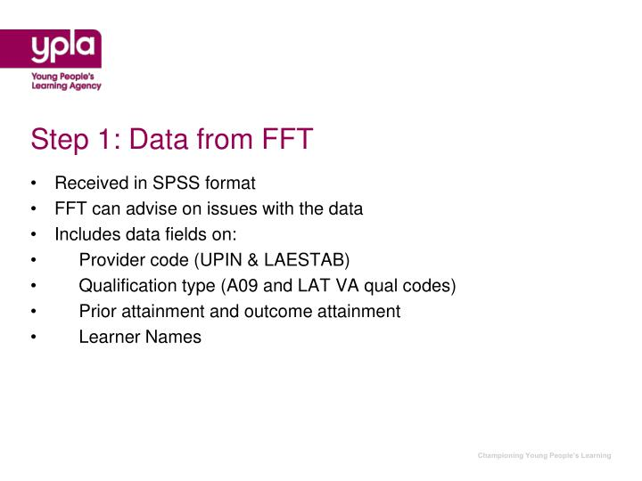 Step 1: Data from FFT