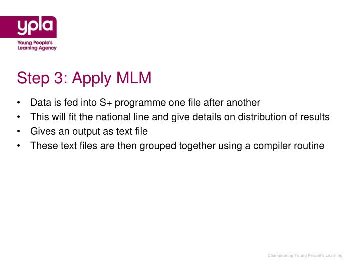 Step 3: Apply MLM