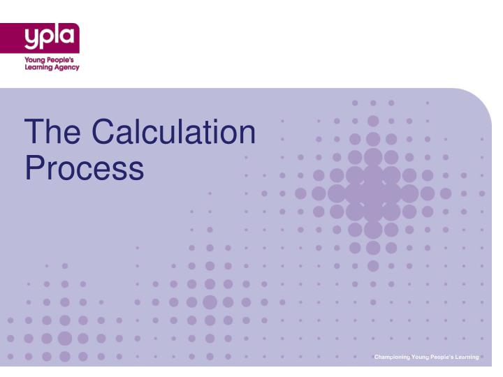 The Calculation Process