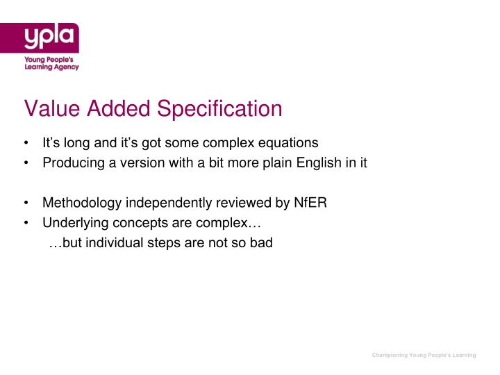 Value Added Specification
