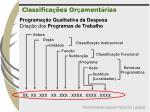 programa o qualitativa da despesa cria o dos programas de trabalho