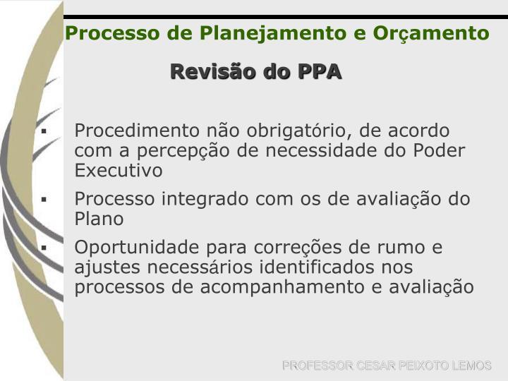 Processo de Planejamento e Or