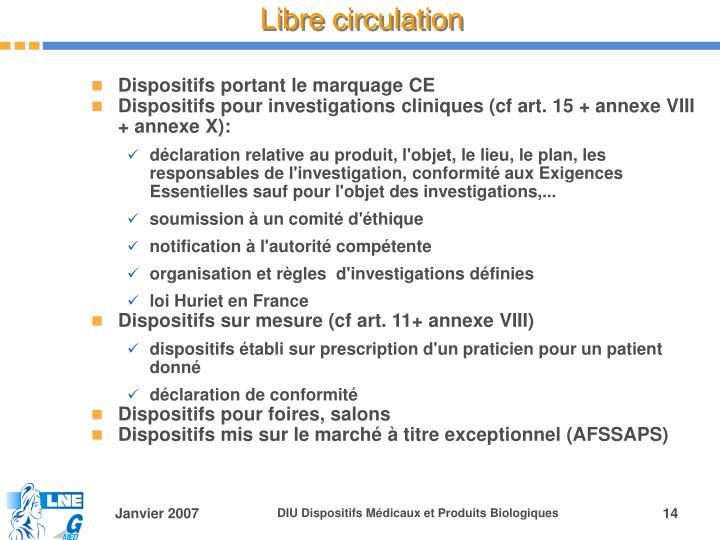 Libre circulation