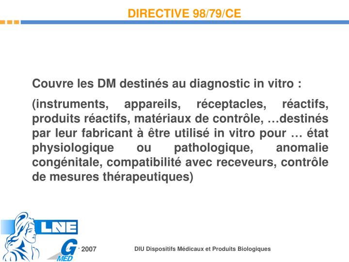 DIRECTIVE 98/79/CE
