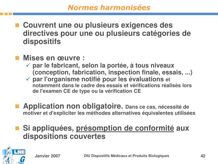 Normes harmonisées