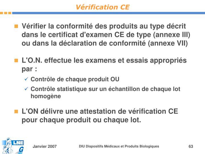 Vérification CE