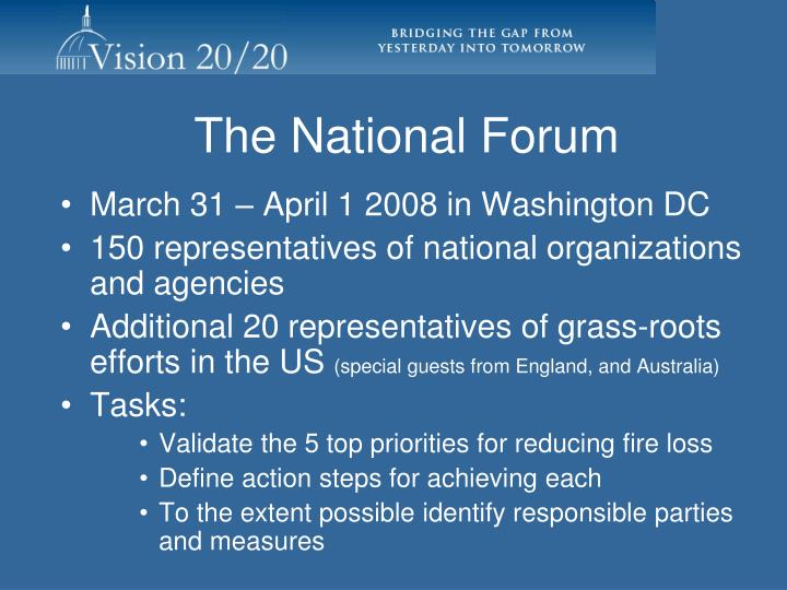 The National Forum