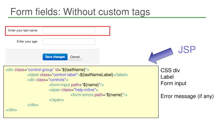Form fields: Without custom tags