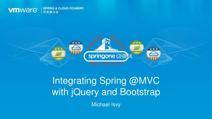 Integrating spring @mvc with jquery and bootstrap