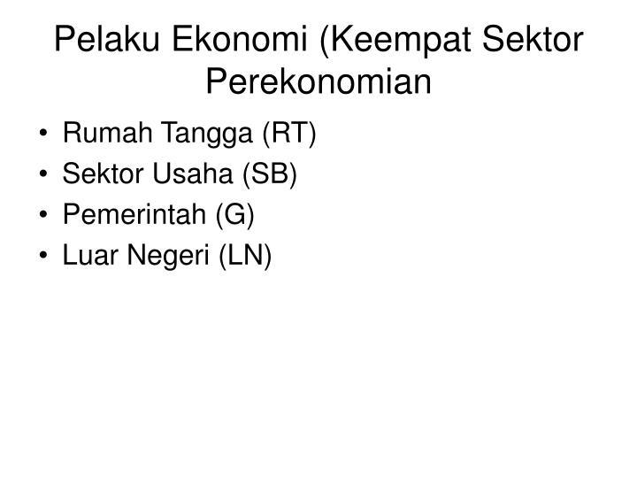 Pelaku Ekonomi (Keempat Sektor Perekonomian