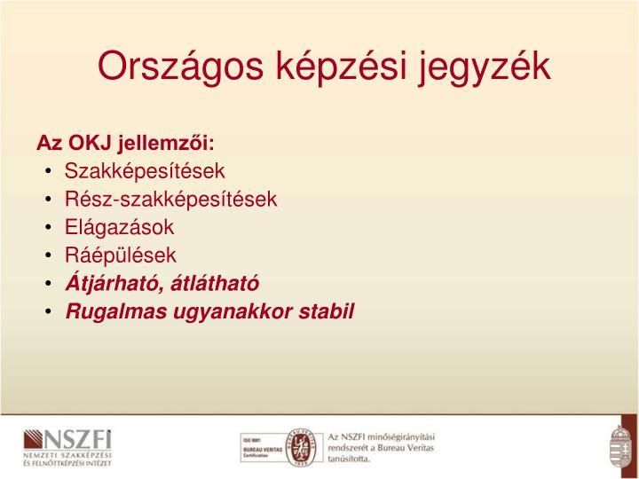 Országos képzési jegyzék