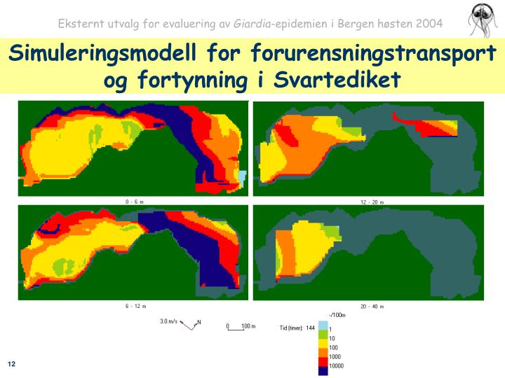 Simuleringsmodell for forurensningstransport og fortynning i Svartediket