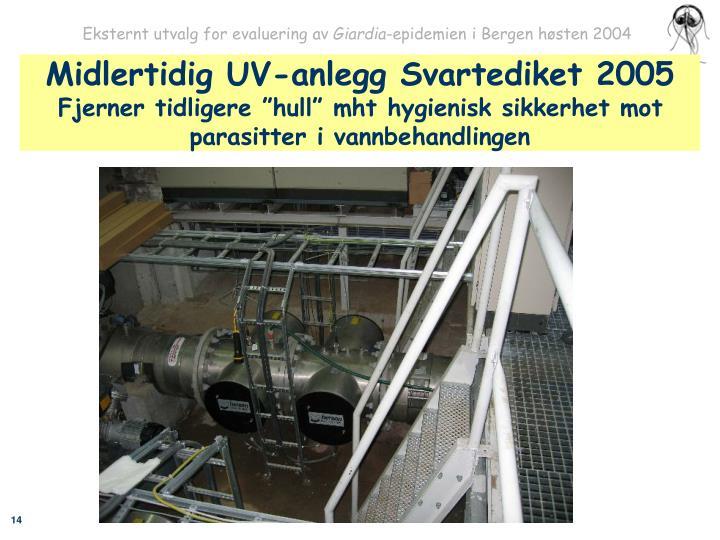 Midlertidig UV-anlegg Svartediket 2005