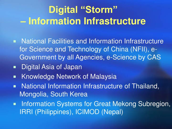 "Digital ""Storm"""