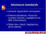 disclosure standards