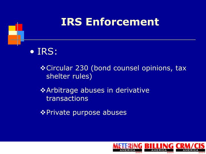 IRS Enforcement