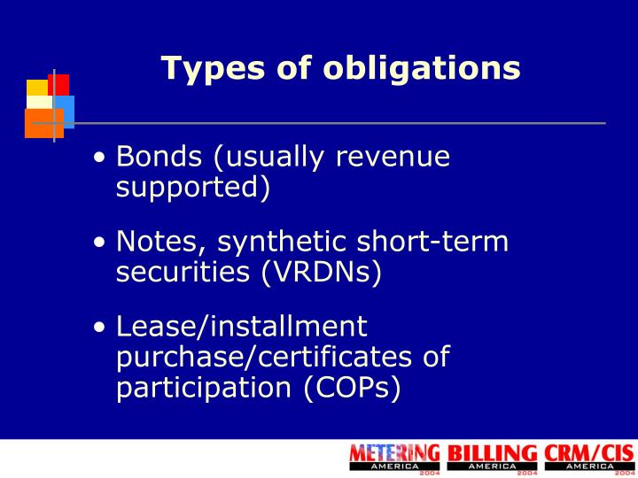 Types of obligations