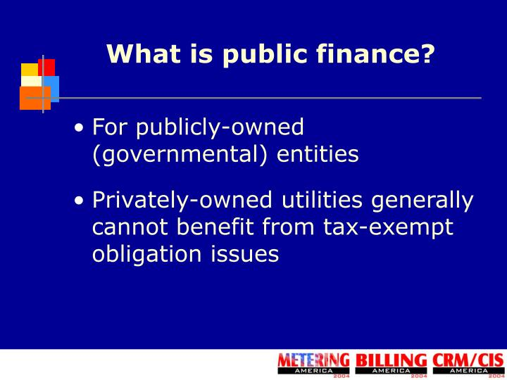 What is public finance?