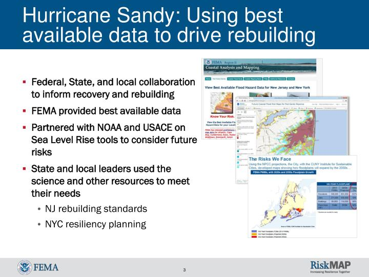 Hurricane sandy using best a vailable data to drive rebuilding