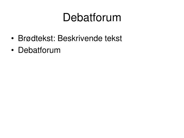 Debatforum
