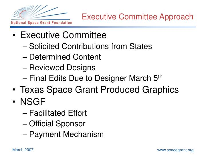 Executive Committee Approach