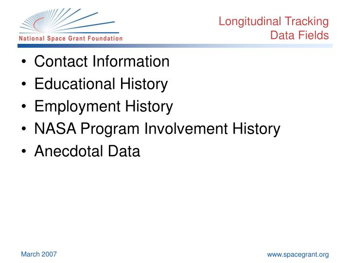 Longitudinal Tracking