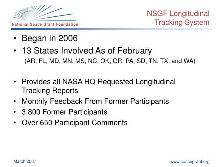 NSGF Longitudinal