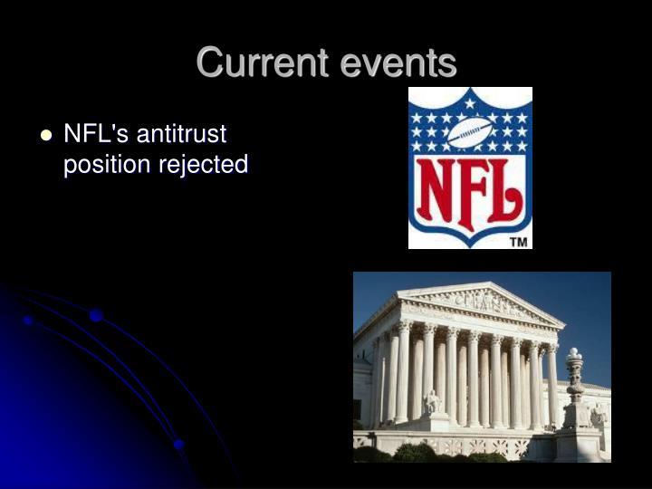 NFL's antitrust position rejected